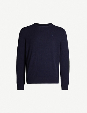 POLO RALPH LAUREN Logo-embroidered cashmere jumper
