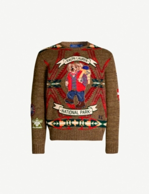 POLO RALPH LAUREN Bear motif wool-blend jumper