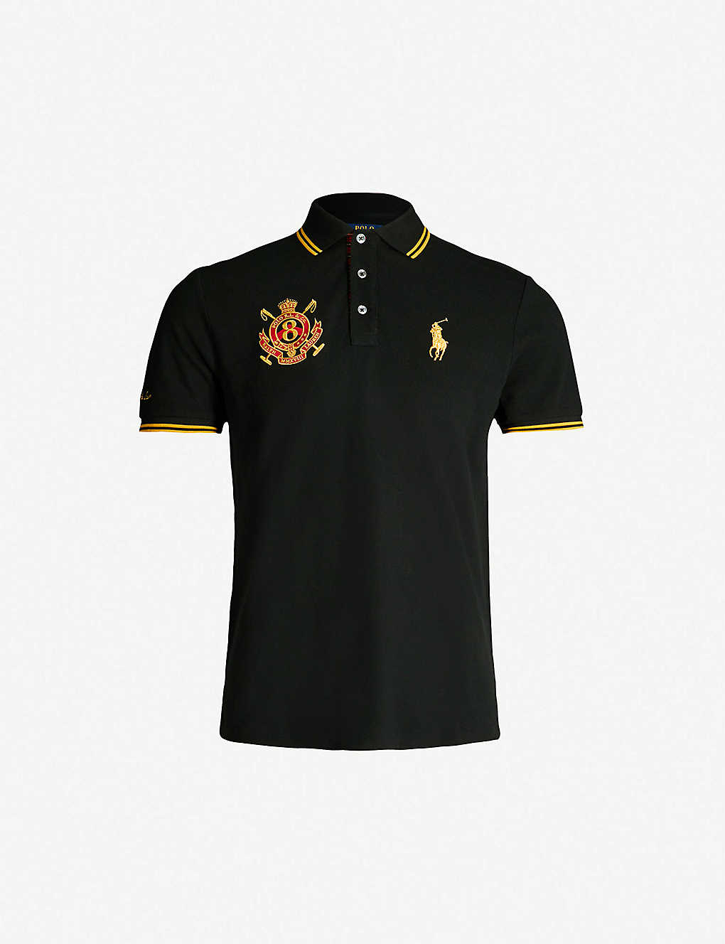 f9f8e336 POLO RALPH LAUREN - Custom slim-fit cotton-piqué polo shirt ...