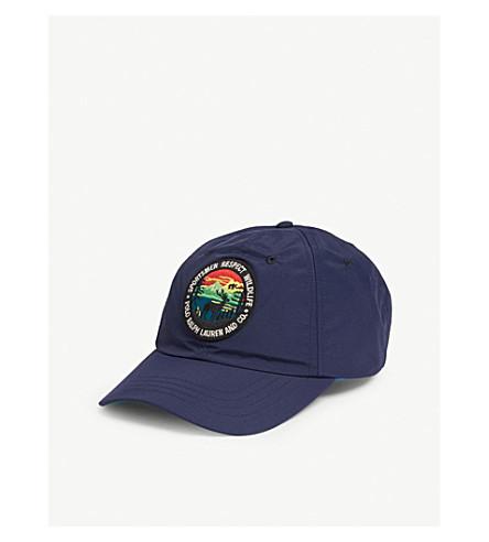 06a4481e4d2e2 POLO RALPH LAUREN Logo-appliquéd woven baseball cap (Newport+navy