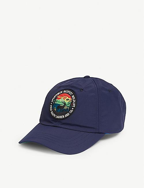 921025dd9da POLO RALPH LAUREN Logo-appliquéd woven baseball cap