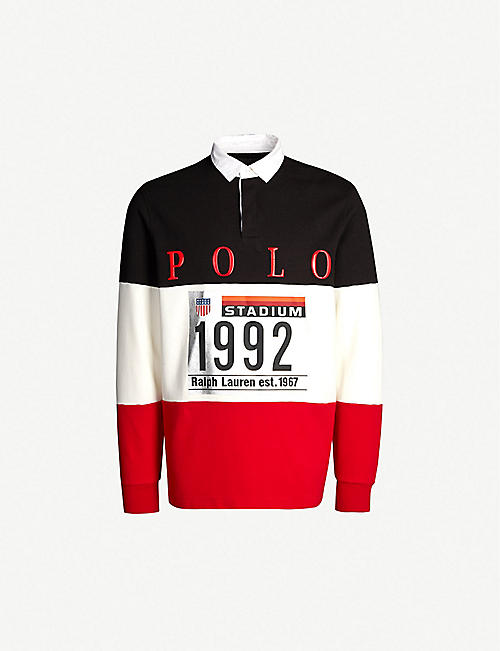 771a848f1c6 POLO RALPH LAUREN Winter Stadium 1992 logo-print stretch-jersey rugby  sweatshirt