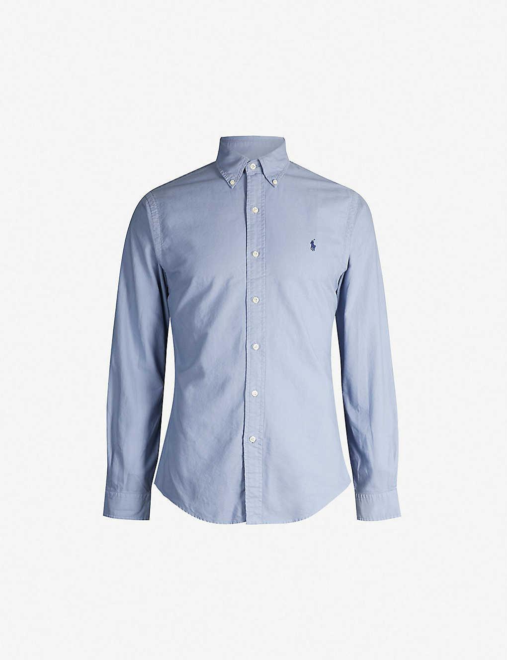 6d88c243 POLO RALPH LAUREN - Logo-embroidered slim-fit cotton shirt ...