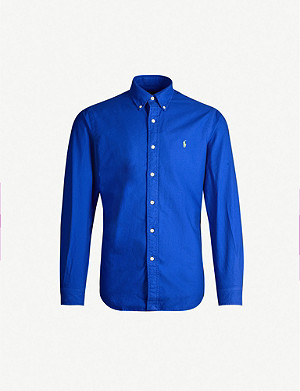 POLO RALPH LAUREN Logo-embroidered cotton-poplin shirt