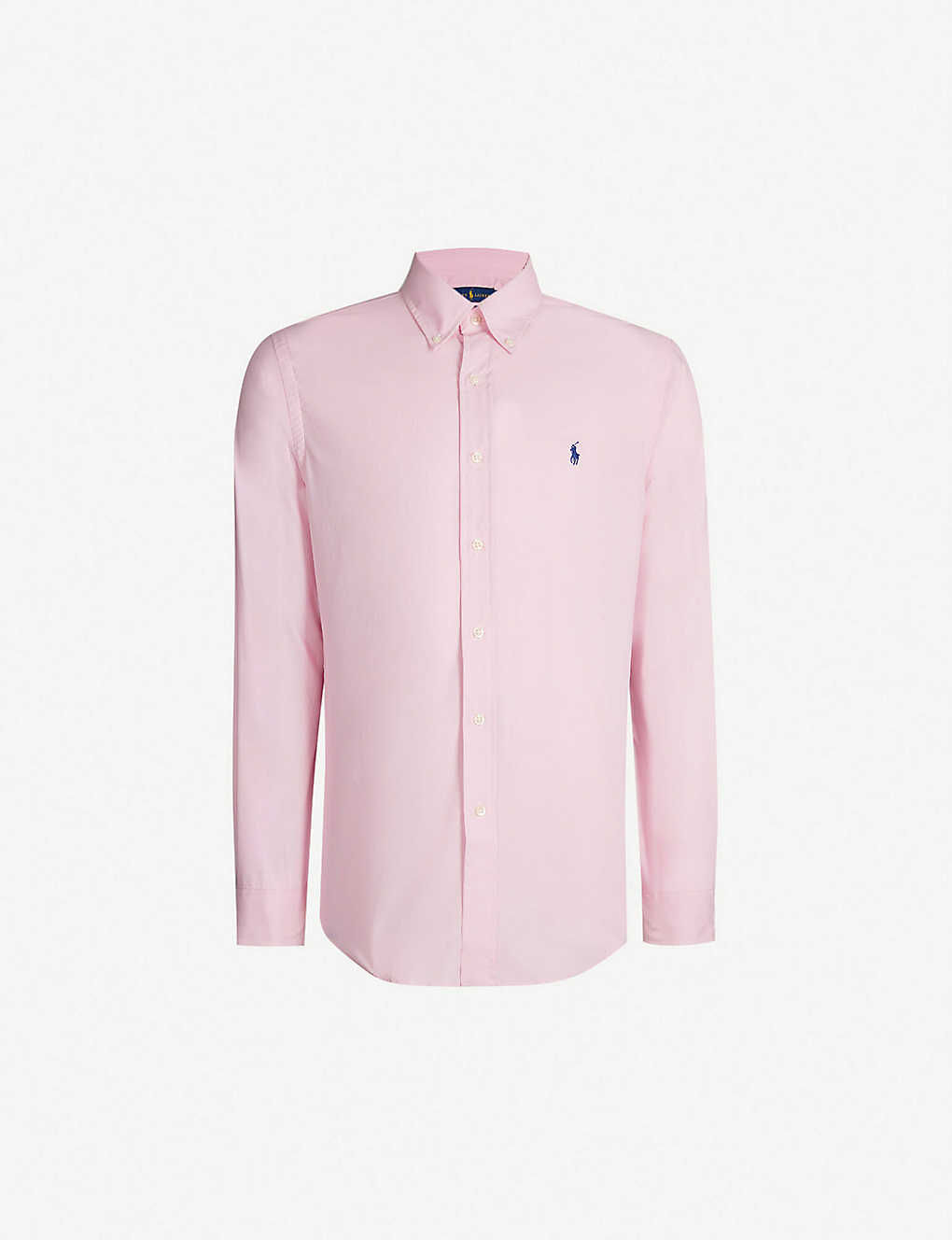 POLO RALPH LAUREN: Logo-embroidered slim-fit cotton shirt