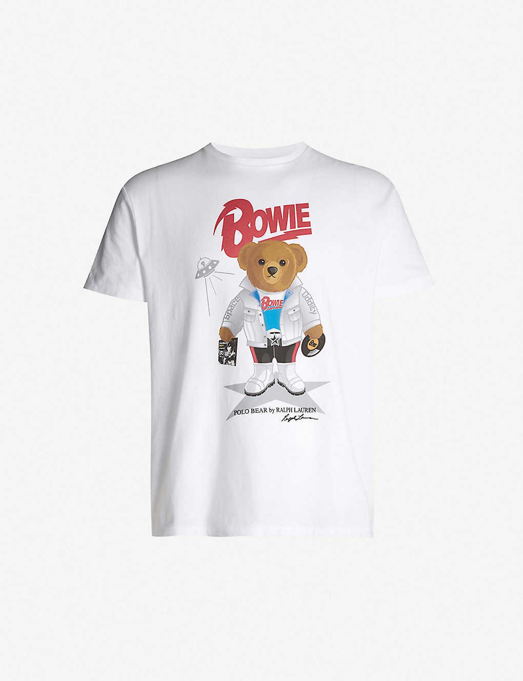 d2f32927 POLO RALPH LAUREN - 'Bowie' teddy bear-print classic-fit cotton-piqué T- shirt   Selfridges.com