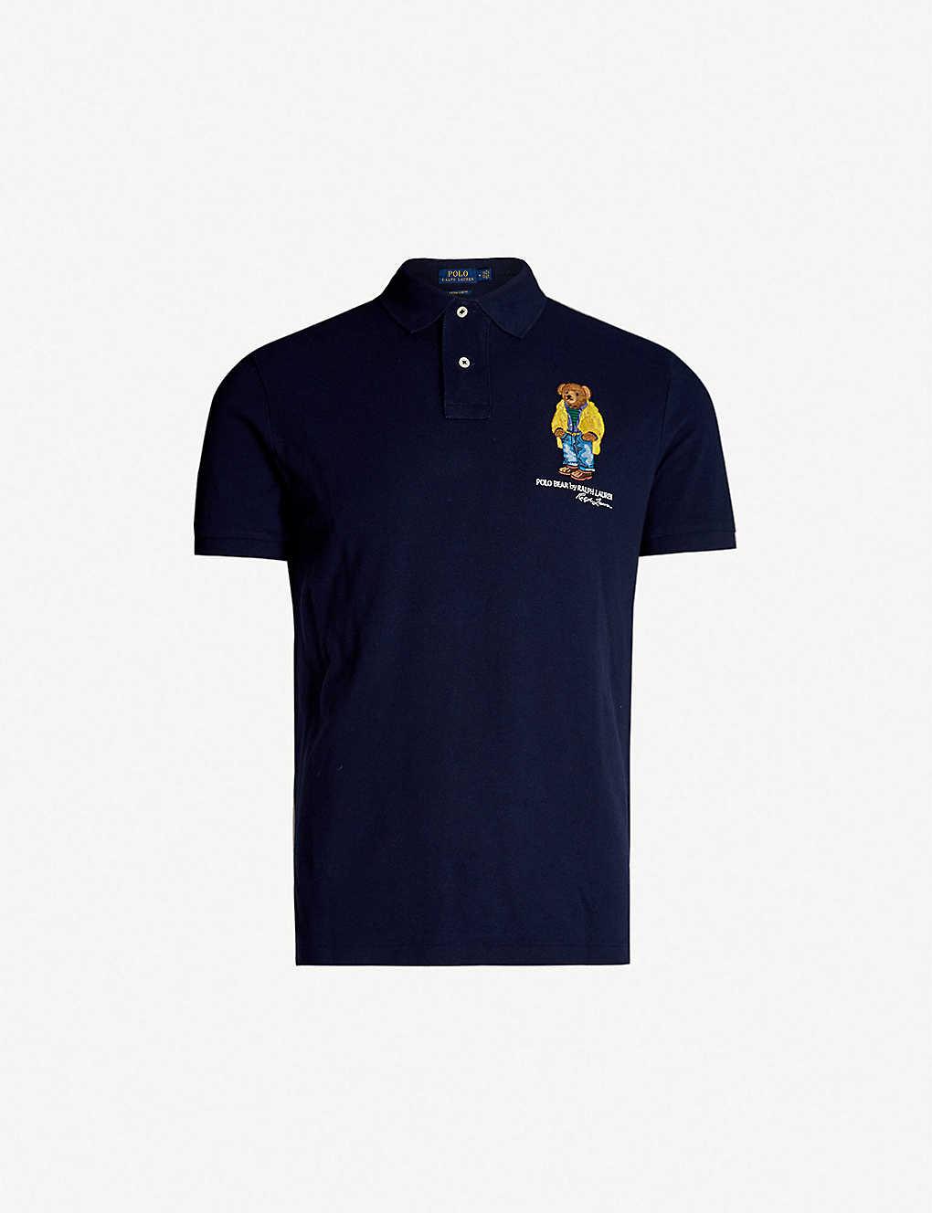 56ce573b POLO RALPH LAUREN - Bear-embroidered cotton-piqué polo shirt ...