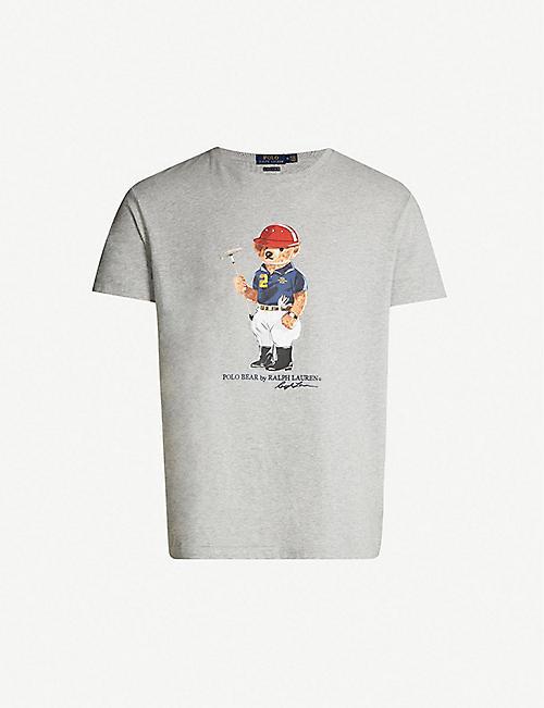81d4c53b911 POLO RALPH LAUREN Bear-printed cotton-jersey T-shirt
