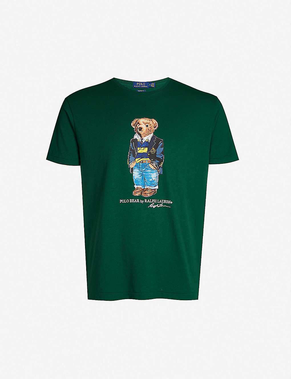 63011d51 POLO RALPH LAUREN - Polo Bear classic-fit cotton-jersey T-shirt |  Selfridges.com