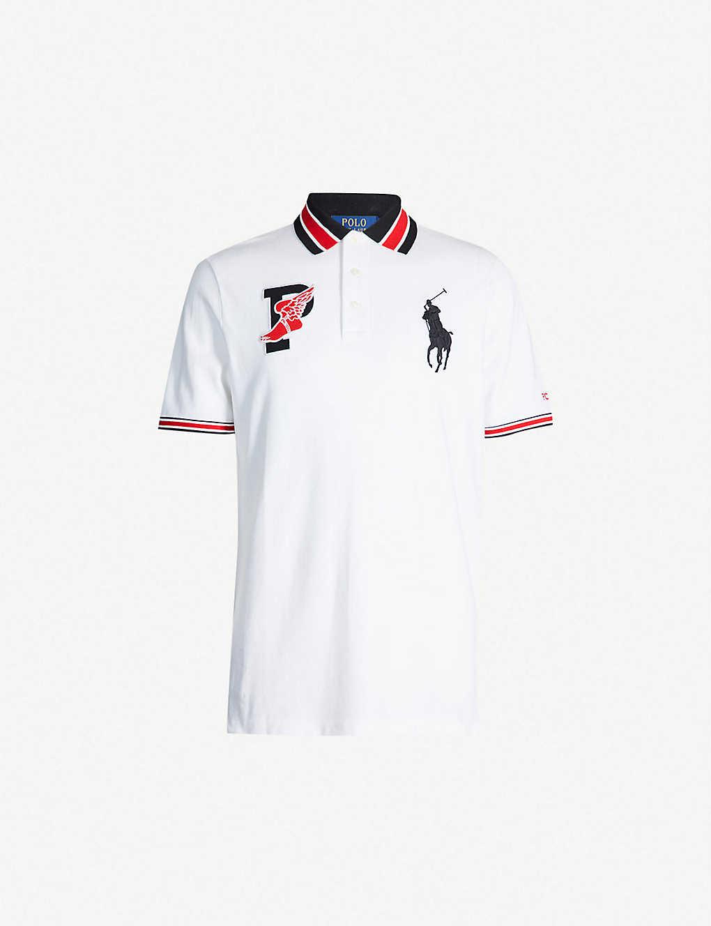 51efacbb8 POLO RALPH LAUREN - Contrast-trim logo-embroidered cotton-piqué polo ...