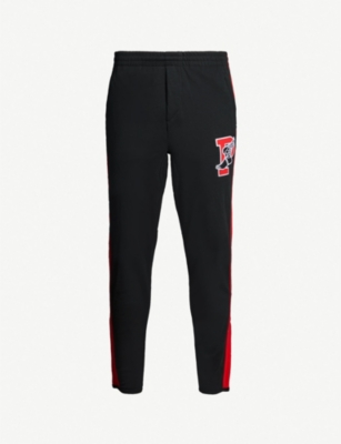POLO RALPH LAUREN P-Wing embroidered cotton-jersey jogging bottoms