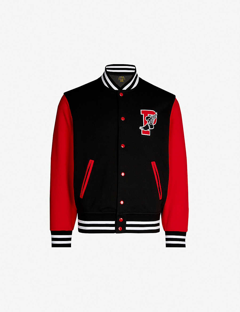 3fff3109 POLO RALPH LAUREN - Stretch-jersey varsity jacket | Selfridges.com