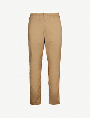 POLO RALPH LAUREN Slim-fit cotton-blend straight-leg trousers