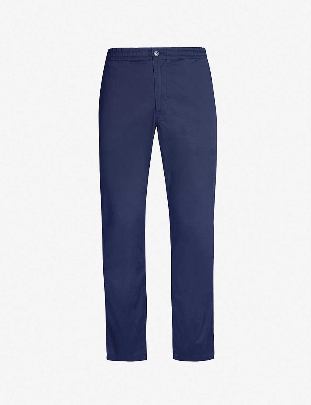 Stretch Cotton Fit Trousers Preppy Slim WDH29EYI
