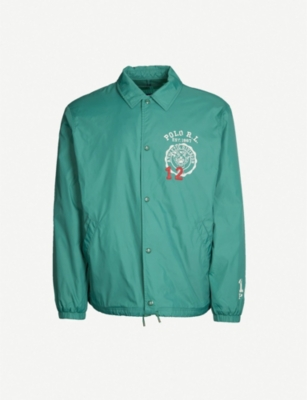 POLO RALPH LAUREN Embroidered shell coach jacket