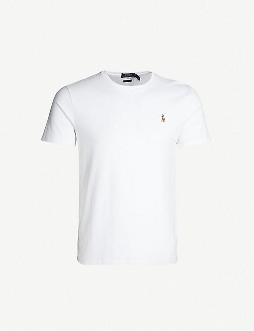 5a22e693d98ac5 POLO RALPH LAUREN Slim-fit cotton-jersey T-shirt