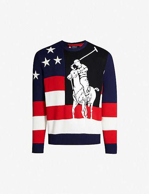 20ccec4108 POLO RALPH LAUREN Graphic-intarsia cotton-knit jumper