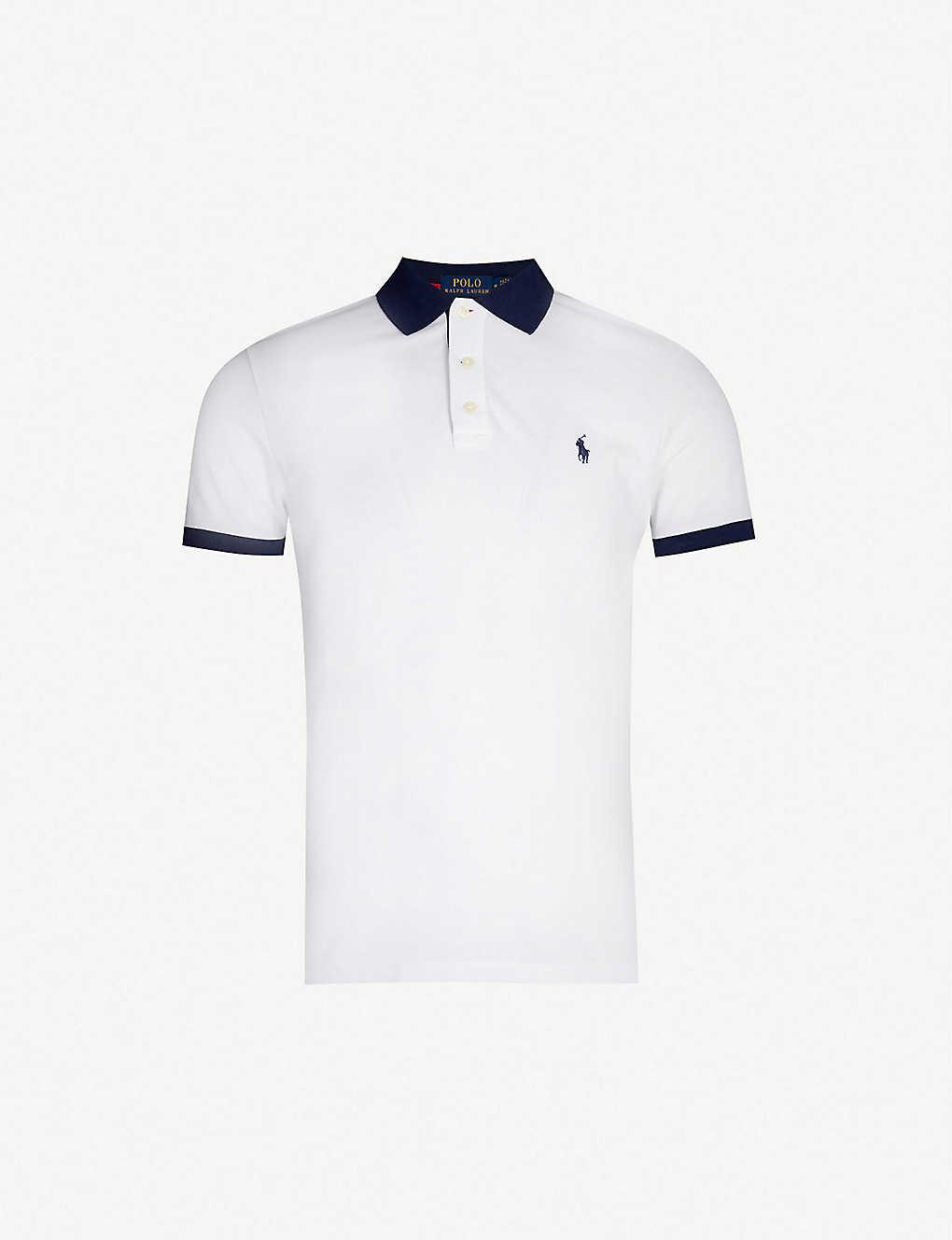 Piqué Contrast Polo Stretch Shirt Cotton RA354Lj