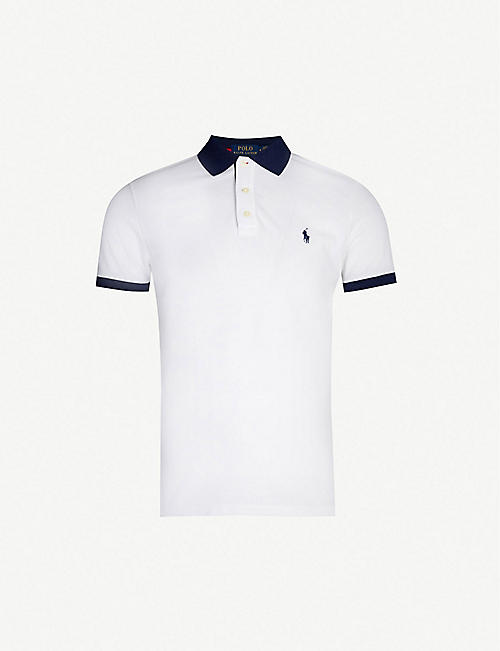 585f396f9e24 POLO RALPH LAUREN Contrast stretch-cotton-piqué polo shirt