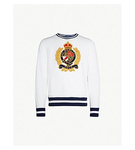 1ba6acec POLO RALPH LAUREN - Logo-embroidered fleece sweatshirt | Selfridges.com