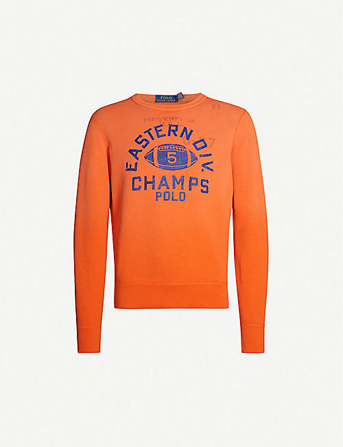 36a6a2054 POLO RALPH LAUREN Logo-embroidered cotton-blend jersey sweatshirt