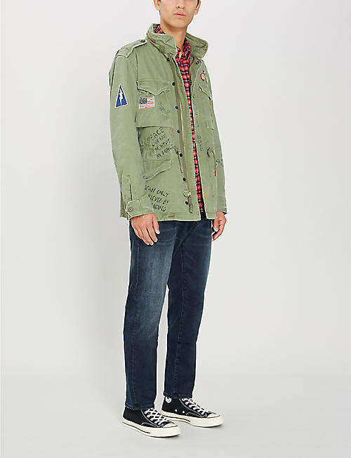 0524cd49eaa POLO RALPH LAUREN High-neck embroidered printed cotton military jacket