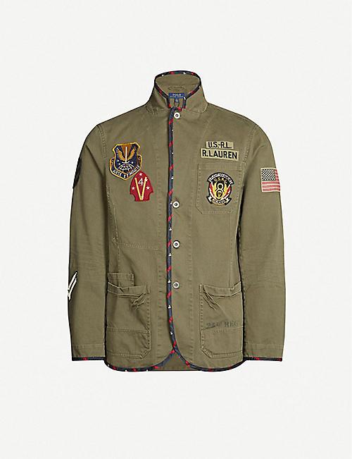 e9c2c9c9884b48 POLO RALPH LAUREN High-neck patch-detail cotton jacket