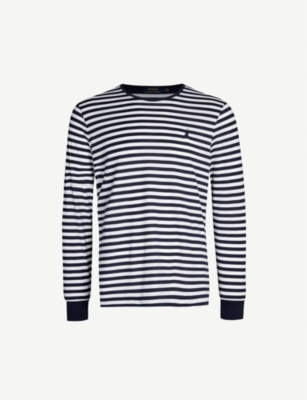 POLO RALPH LAUREN Striped cotton-jersey long-sleeved top