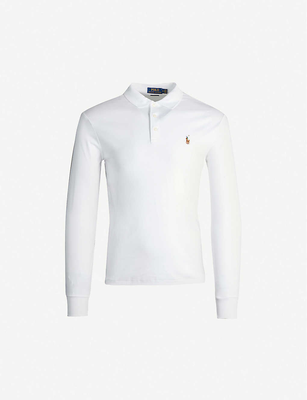 586599ecce4 POLO RALPH LAUREN - Logo-embroidered long-sleeved cotton-jersey polo ...