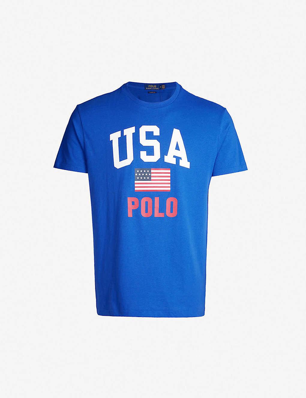 Ralph Jersey Usa Shirt Lauren Cotton Print Polo T uKJ31cTlF5