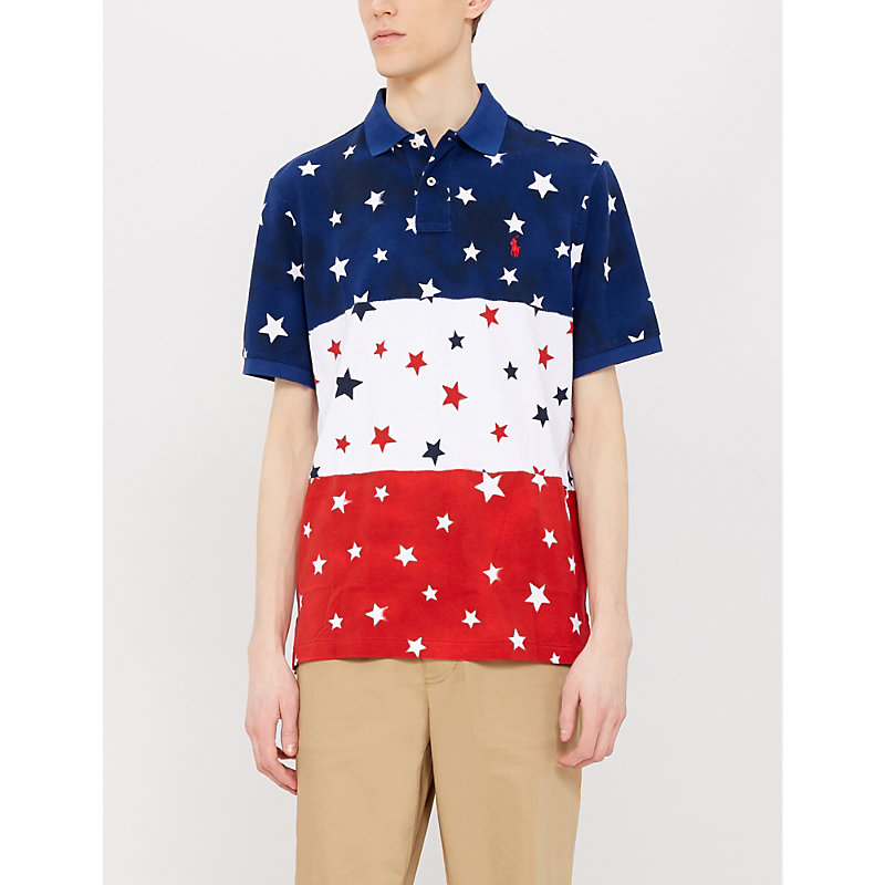 76f5949b POLO RALPH LAUREN | Star Patterned Slim-Fit Cotton Polo Shirt | Goxip