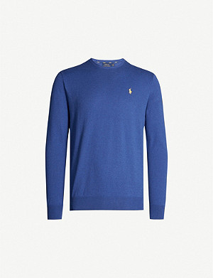 POLO RALPH LAUREN Logo-embroidered cotton-knit jumper