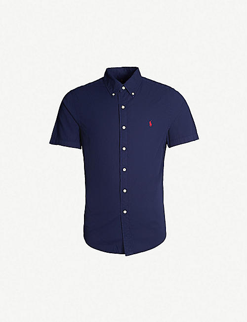 8384f3242ef0 POLO RALPH LAUREN Logo-embroidered regular-fit cotton shirt