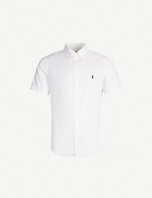 70debc39b POLO RALPH LAUREN Logo-embroidered slim-fit cotton shirt