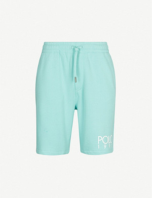 POLO RALPH LAUREN 1992 branded high-rise cotton-blend shorts