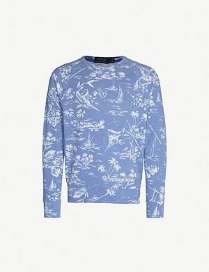 POLO RALPH LAUREN Graphic-print cotton-jersey sweatshirt