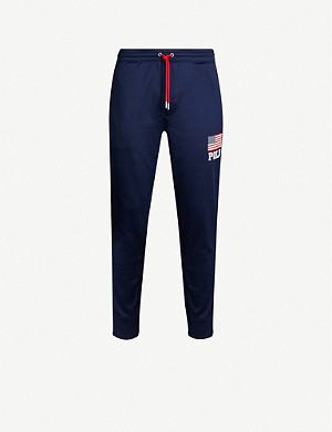 POLO RALPH LAUREN Flag-print trim sports-jersey jogging bottoms