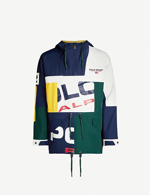 POLO RALPH LAUREN Mash up-print shell jacket