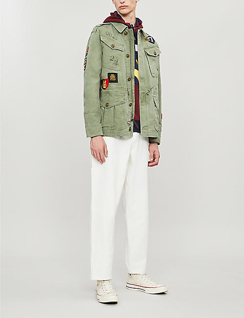 POLO RALPH LAUREN Patchwork cotton military jacket