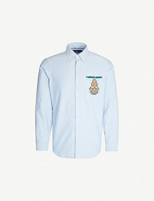 POLO RALPH LAUREN Rugby-crest cotton Oxford shirt