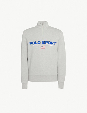 POLO RALPH LAUREN Polo Sport-print cotton-blend jersey sweatshirt