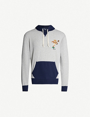 POLO RALPH LAUREN Preppy bear-embroidered cotton-blend hoody