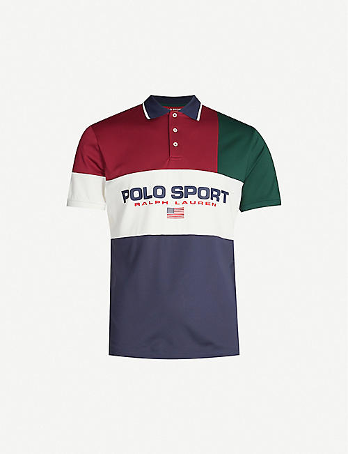 POLO RALPH LAUREN Logo-print stretch-jersey polo shirt