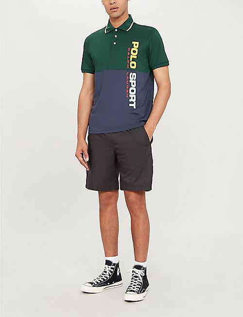 3222e8923326 POLO RALPH LAUREN Block-colour printed stretch polo shirt