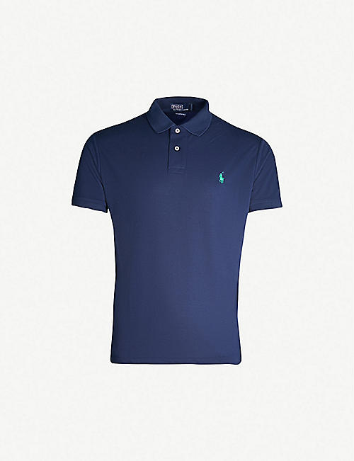 90ff76e973e POLO RALPH LAUREN Earth Polo Logo-embroidered cotton-piqué polo shirt