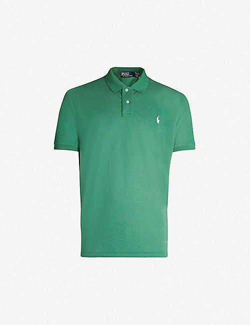 b6d3bab2d00b POLO RALPH LAUREN Logo-embroidered cotton-piqué polo shirt