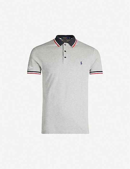 b7cb3305cef4f POLO RALPH LAUREN Slim-fit contrast stripe trim cotton polo shirt