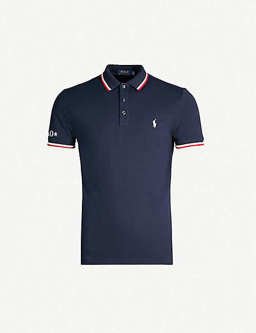 599fed02 POLO RALPH LAUREN Slim-fit contrast stripe trim cotton polo shirt