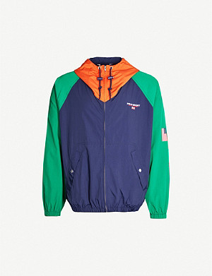 POLO RALPH LAUREN Colour-block hooded shell jacket