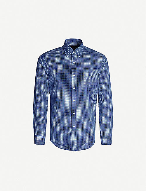 3b2d846ca POLO RALPH LAUREN Geometric-print slim-fit cotton shirt